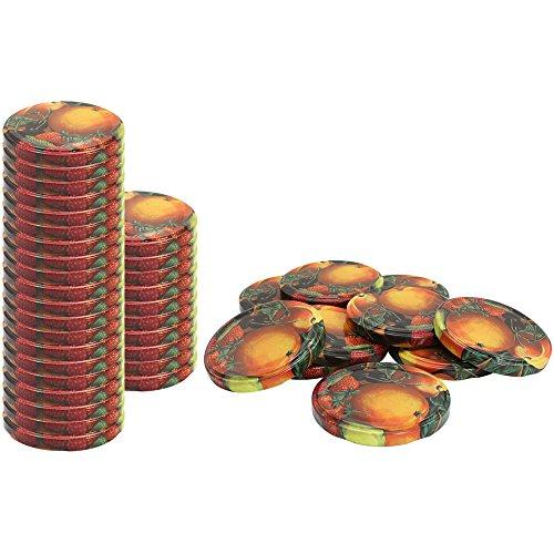 com-four® 40x Couvercles de rechange pour pots à confiture\