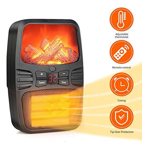 Mini Heizlüfter Elektrisch, Keramik Energiesparend Desktop Heizung 1000 W mit Einstellbarer Temperatur, Überhitzungsschutz und Umkippschutz für Heim/Büro/Schlafzimmer