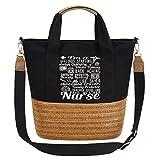 So'each Women's Handbag I'm A Nurse Gift Work Tote Crossbody Shoulder Bag Black