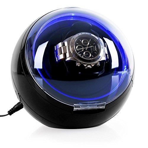 Klarstein St. Gallen-Deux - Uhrenbeweger, Uhrendreher, Uhrenkasten, Uhrenbox, Kapazität: 1 x Automatikuhr, 4 vorprogrammierte Bewegungs-Modi, Rechts-Links Lauf, Laufruhig, schwarz