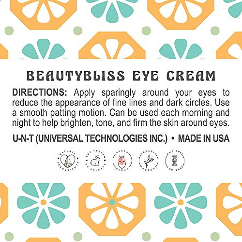 UNT BeautyBliss Anti-Aging Eye Cream with Caffeine, 1 oz