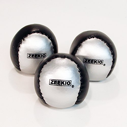 Zeekio Beginner Juggling Ball - [Pack of 3], Millet Fields, Synthetic Leather, Circus Balls, with...