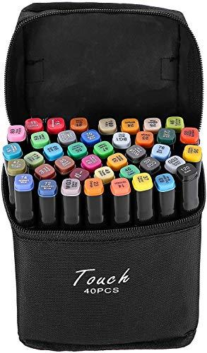 AVNTEN 40 Farbige Graffiti Stifte Fettige Mark Farben Marker Set,Twin Tip Textmarker, Metallic Marker Pens--1 mm und 6 mm Linienbreite Graffiti Stift