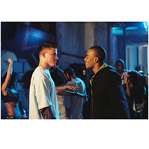 Step Up (2006) 8 Inch x10 Inch Photo Channing Tatum Talking to Mario Smiling kn