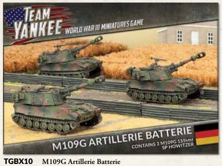 Team Yankee West German M109 Artillerie Batterie by Battlefront Miniatures