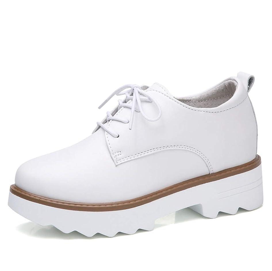 魚和解するリンス[THLD] 厚底レースアップマニッシュシューズ おじ靴 オックスフォードシューズ 厚底パンプス レースアップ ポインテッドトゥ 歩きやすい スムース クッション インソール 靴 トレンド シンプルデザイン レースアップシューズ