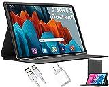 5G Tablet 10 Pulgadas 4GB RAM + 64GB ROM   TF 128GB Android 10 - DUODUOGO Tableta Quad-Core 1.6GHz 5G WiFi 8000mAh Bluetooth GPS Type-C OTG 5MP Cámara Tablets GMS Certificación Google (Gris)