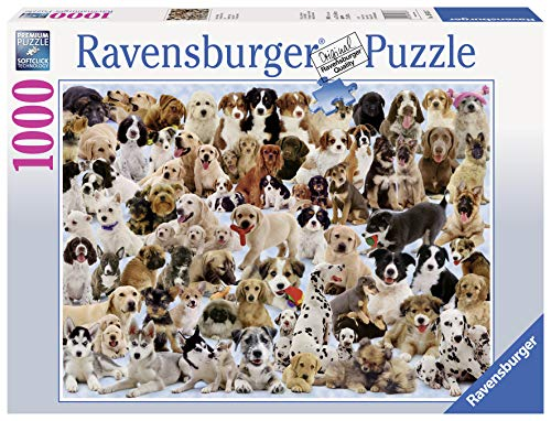 Ravensburger Dogs Galore - 1000 Piece Jigsaw Puzzle for Adults  Every piece is unique, Softclick technology Means Pieces Fit Together Perfectly
