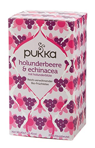 Pukka BIO Tee Holunderbeere und Echinacea, 20 Beutel, 40 g