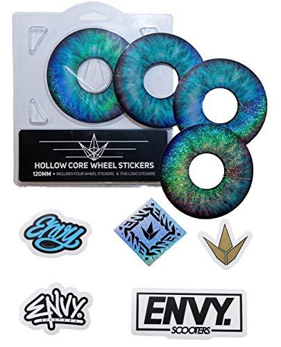 Envy Blue Eye Wheel Aufkleber-Set, für 120 mm Räder