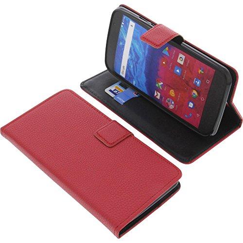 foto-kontor Tasche für Archos Core 55 Book Style rot Schutz Hülle Buch