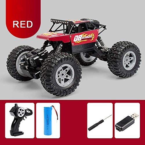 Dpliu Remote Control car Climbing Car Electric Remote Control Car Off-Road Remote Control Car Alloy Mountain Bigfoot Rechargeable Off-Road Vehicle New Year Christmas RC Vehicle Gift for Childre