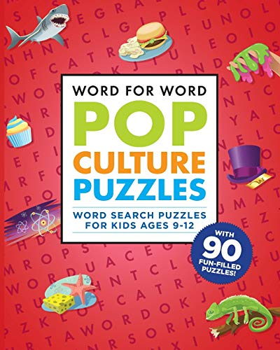 Compare Textbook Prices for Word for Word: Pop Culture Puzzles: Word Search Book for Kids ages 9-12  ISBN 9781641525985 by Rockridge Press