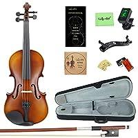 Amdini 3/4 MP0013タイガーストライプソリッドウッド学生バイオリン、ハードケース、ショルダーレスト、ボウ、ロジン、エクストラ弦