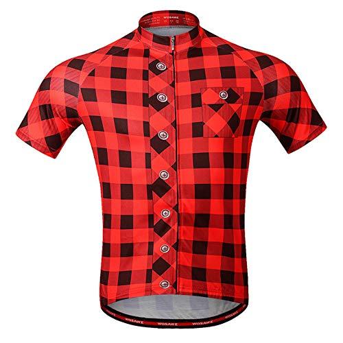 Herenfietsshirt, korte mouwen MTB-mountainbike-shirt met reflector voor kanosport-campingmotorfietsen XX-Large B