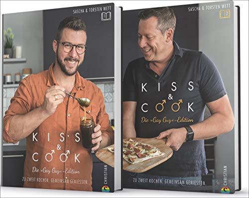 Kiss & Cook - Die Gay-Guy-Edition. Das ultimative Kochbuch-Set für alle schwulen Paare. Die besten Rezepte für jeden Tag und für das Kochen zu zweit. ... Zu zweit kochen. Gemeinsam genießen.