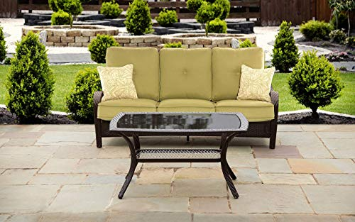 Hanover ORLEANS2PC Orleans 2-Piece Lounging Set Outdoor Furniture, Green