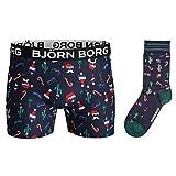 Bjorn Borg Herren Spaß Weihnachtsweihnachts-BO Sammy 2 Pack Socken und Boxer - XL