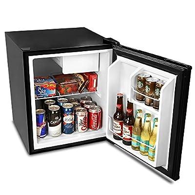 bar@drinkstuff Frostbite Zero Degrees Mini Fridge with Icebox 49ltr Black - Mini Fridge with Freezer Compartment by bar@drinkstuff