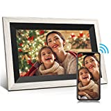 Digital Picture Frame Jeemak 10.1 Inch WiFi Photo Frame with HD IPS Touch Screen Auto-Rotate Adjustable Brightness Share Photos and Videos via App at any time and Anywhere