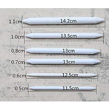 18-piece double-headed sketch paper White pencil Pastel carbon Blending Stump