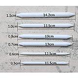 6 unids Cabeza Doble Mezclar Tocones Boceto de Papel Pluma Blanca Pastel de Papel de Carbón de leña Dibujo Arte de Dibujo Pintura Blender Herramientas