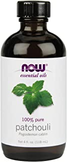 Now Essential Oils, Patchouli Oil, Earthy Aromatherapy Scent, Steam Distilled, 100% Pure, Vegan, 4-Ounce