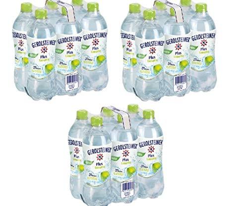 18 Flaschen Gerolsteiner Plus Limette + Mineralwasser a 750ml PET inc. 4,50€ EINWEG Flasche