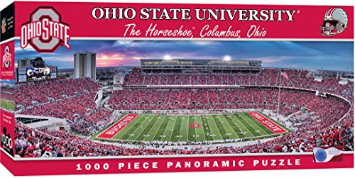MasterPieces NCAA Ohio State Buckeyes Football Stadium Panoramic Jigsaw Puzzle, 1000 Pieces, 13' x 39'