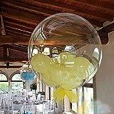 Decoraciones de cumpleaños Bobo burbuja helio fiesta de cumpleaños de globos de Navidad Boda Decoración 100pcs18 / 24 / 36inch luminoso claro transparente Decoración de fiesta de cumpleaños