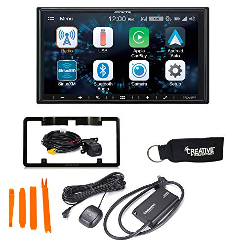 Alpine iLX-W650 Compatible with CarPlay & Android Auto - Includes Back up Camera, SXV300 Sirius XM Tuner