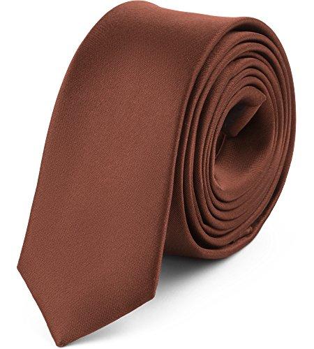 Ladeheid Herren Schmale Krawatte SP-5 (150cm x 5cm, Braun)