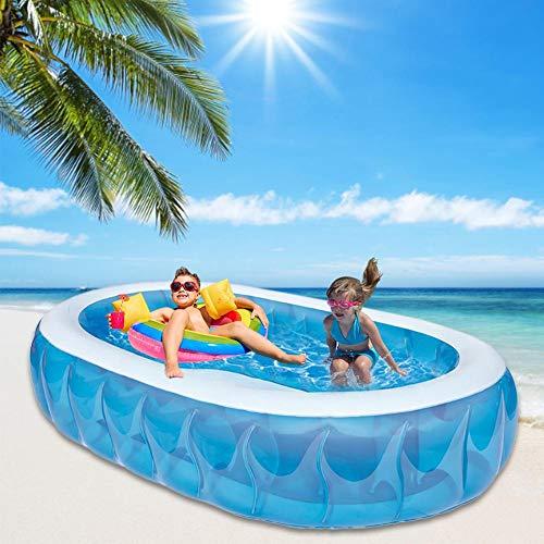 Sponsi Piscina inflable, piscina inflable para bebés y niños de la familia, tapones de drenaje de juguete de piscina de diversión de verano para niños, 234 152 51 cm