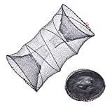 EASY BIG Collapsible Crab Traps (Dia:15.7inches(40cm) Height:31.5inches(80cm))