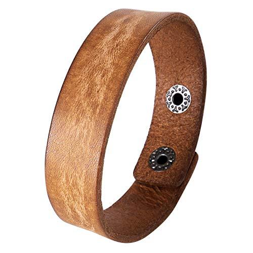 Daesar Men Bracelet Brown, Leather Friendship Bracelets Bangle Bracelet Brown Bangle Bracelet Men