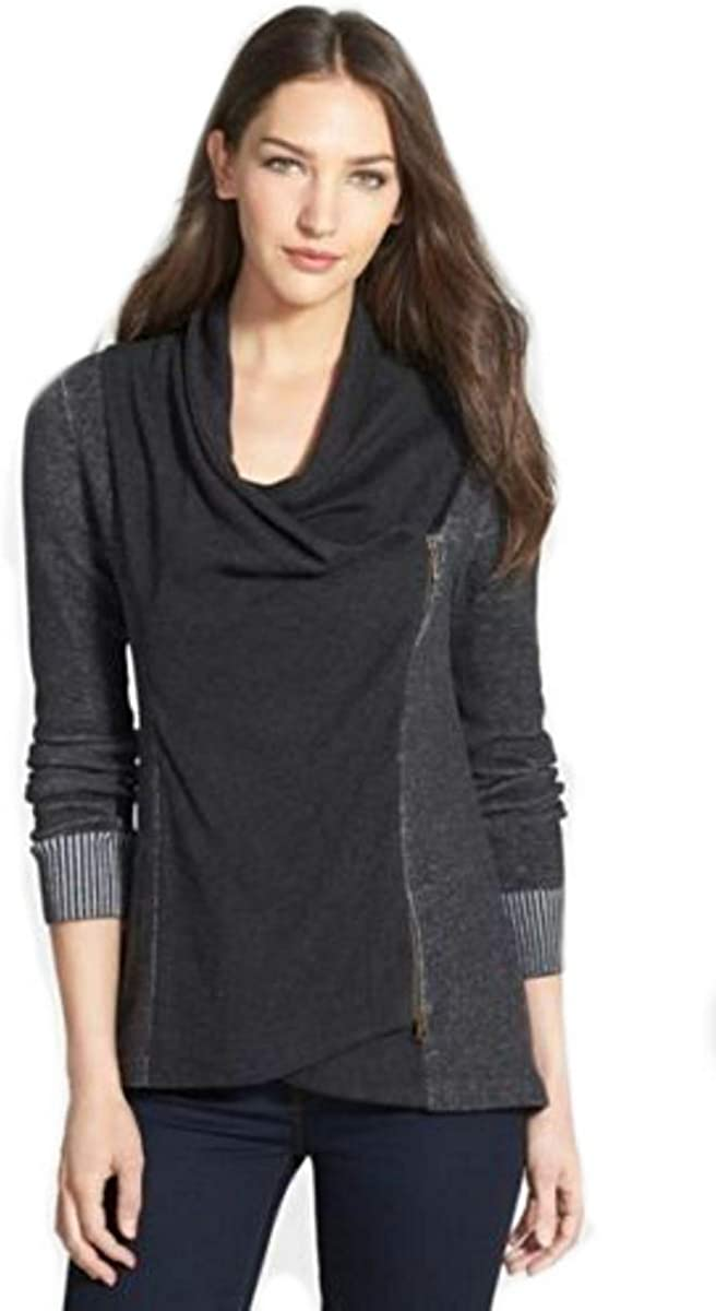 Eileen Fisher Organic Cotton Charcoal Cardigan S MSRP $358.00