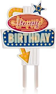 Suck.UK Flashing Cake Topper - Happy Birthday, Multicolor