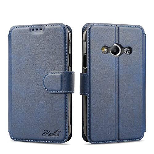 Keallce für Samsung Galaxy Xcover 3 Hülle, Handy Lederhülle PU Leder Hülle Brieftasche Handytasche Cover Kompatibel für Samsung Galaxy Xcover3 Ledertasche-4.5