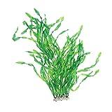 ukcoco decorazione acquario piante acquatiche artificiali falso acquatico impianto fish tank ornament - 52 cm (verde)
