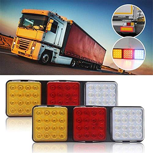 2 stuks LED Truck Tail Light Bar, Waterdicht 12V richtingaanwijzer Brake Reverse achterlicht - Super Bright, Energy Saving - voor Trailer RV, Camper, UTV, UTE & Van