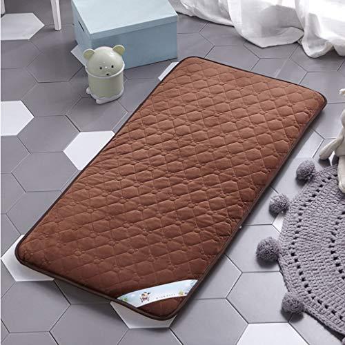 Ledikant matras, matras topper kind kinderkamer mat vloer Tatami mat veiligheid matras voor baby 70x150cm(28x59inch) Koffie