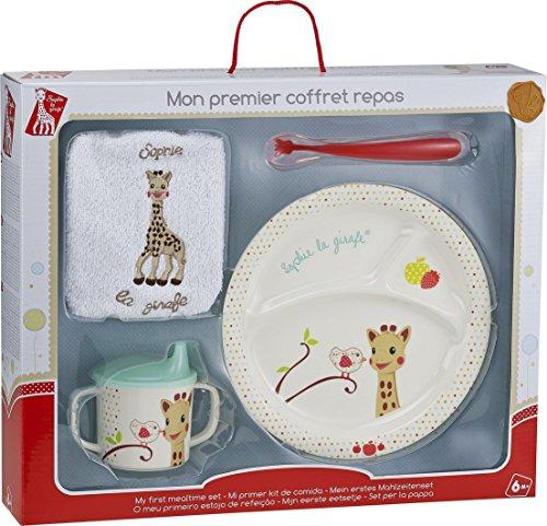 Vulli 460008 - Vajilla infantil en maletín (melamina), diseño de Sophie la jirafa, multicolor