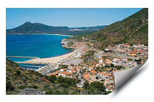 Mediterranean View West Coast of Sardinia Italy Picture HD Vinyl Wall Art Poster Sticker