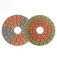 ドリル用研磨パッド 10ピース/セット3インチスーパー品質ダイヤモンド研磨パッド80mmぬれた研磨パッド大理石花崗岩の研磨工具HF07 沿って ESUHUANG. (Grit : 5, Size : 10 Pcs)
