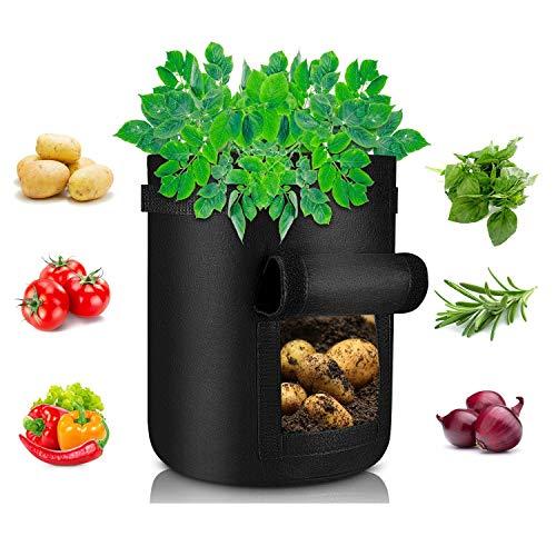 Deyard Kartoffel wachsen Taschen, 7 Gallonen große Kartoffelpflanzgefäße Vegetable Grow Bags...