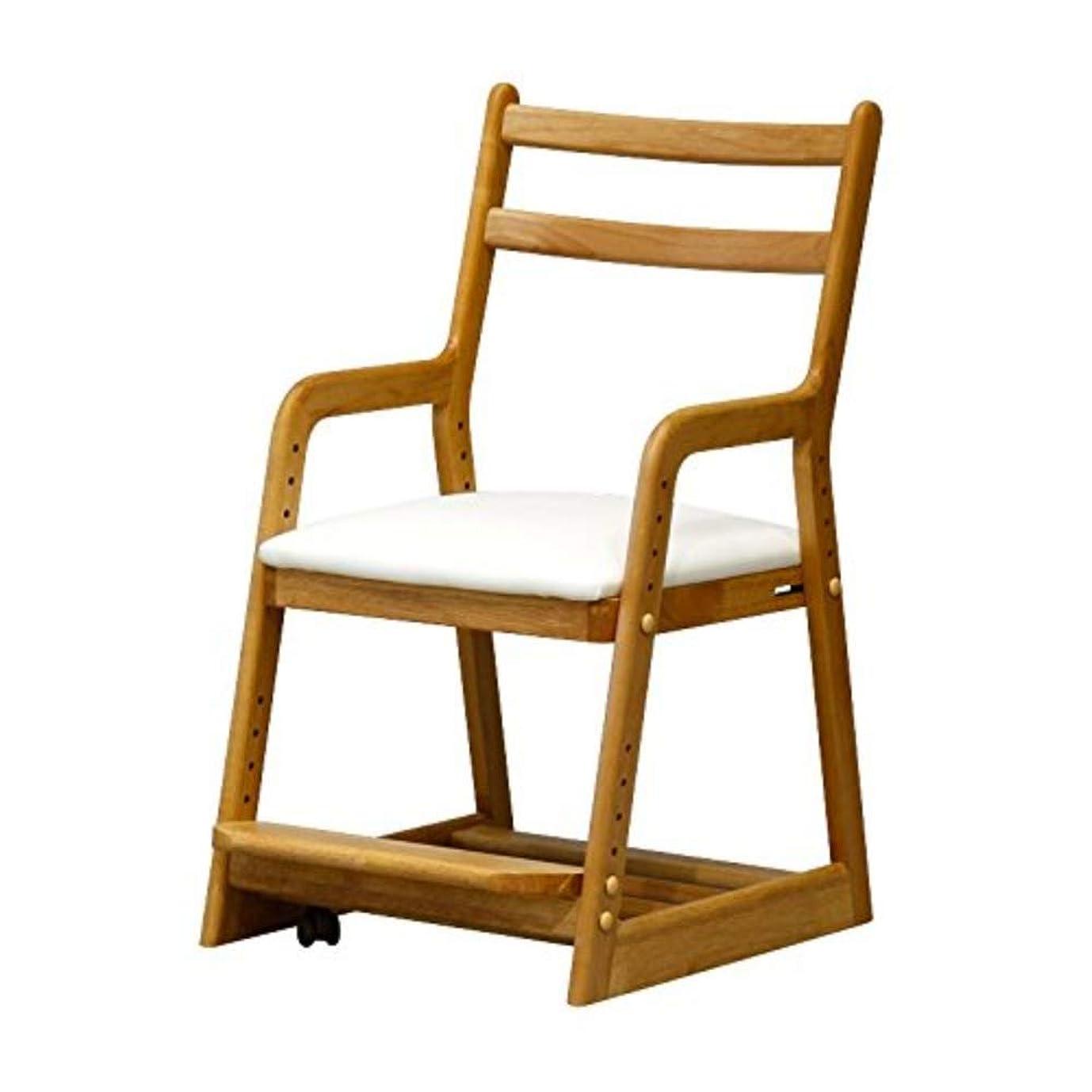 スラダムただ学習ISSEIKI 学習チェア【完成品】ホワイト 幅42(アルダー材)LIFE DESK CHAIR (NA+WH) 木製家具 おしゃれ こども用 一人掛け 学習椅子 インテリア 学童