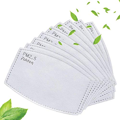 100 Pack PM 2.5 Activated Carbon Filter | Ship from USA | Mask Filters | Replaceable Anti Haze Filter Paper | Breathing Insert Protective Mask | Meltblown Non-Woven Cloth 5 Layers Filters a