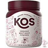 KOS Organic Beet Root Powder - Natural Nitric Oxide Boosting Beet Root Powder - USDA Organic, Stamina Increasing,...