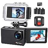 Napasa アクションカム 4K, WiFi搭載 30M防水 170度広角 魚眼レンズ HDMI出力 スポーツカメラ SDカー32GB 1050mAhバッテリー3個 豊富なアクセサリー 自転車/ヘルメット/サーフボードに 取り付け可能 (N9000)