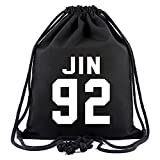 Meridiaga Zaino del gruppo KPOP BTS Bangtan Boys, zaino a sacchetto, borsa a tracolla, JIN 92, Taglia unica